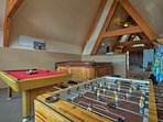 Show your skills on the pool table or foosball table.