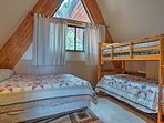 Siblings, children and parents, or friends will enjoy sharing this room.