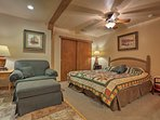 Cozy up in this bedroom with enough room for the whole family!
