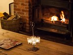 The wood burner will make any evening cosy