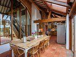 Lavish dining with views of the garden