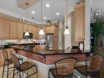Desti-N-ation Villa - Breakfast Bar and Kitchen Area