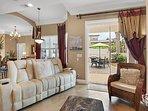 Desti-N-ation Villa - Living Area w/ HD TV