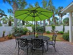 The Patio Offers Outdoor Seating, Dining, and Grilling Station