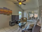 Walk past the back living room to access the sunroom.