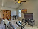 Kids love the back living room with a flat-screen satellite TV.