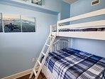 Bedroom 3 (Regular + Twin) w/ Tall Dresser & Flat Screen TV