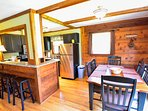 Riverview Dining Area and Kitchen with Breakfast Bar