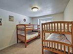Kids can have their own space in this bunk room.