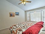 This queen master bedroom is perfect for hosting 2 travelers.