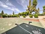 Shoot some hoops on the community basketball courts.
