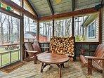 Blakeslee Forest Retreat w/ Fire Pit & Deck!