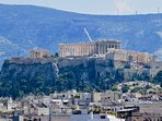 Amazing Acropolis views from our roof top terrace (close up photo)
