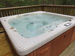 You will love this enormous hot tub for the both of you!