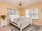 Second/ Guest bedroom has a queen bed