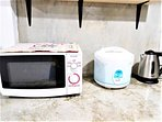 Microwave, Rice cooker, Kettle