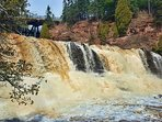 Gooseberry Falls State Park is a very popular park with its dramatic waterfalls and extensive trails