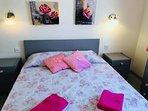 Bright sea view bedroom