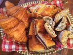 Breakfast breads and pastries, 5 different choices every day