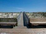 Dedicated boardwalk to beach and Gulf