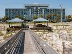 Private gazebo and boardwalk to beach