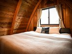King size bed in the LOFT