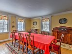 Host a holiday meal in the formal dining room.