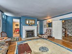 Enjoy the antique furnishings throughout this historic home.