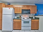 Full-sized appliances make cooking a breeze.