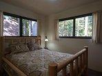 Lucky's Mountain Chalet-Queen bedroom on main floor