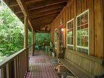 Henry Creek Cabin-Covered wrap around porch