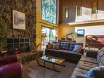 Lucky's Mountain Chalet-Main floor living room