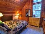 Henry Creek Cabin-Loft Bedroom with Queen