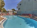 Sunbathe and swim at the community pool.
