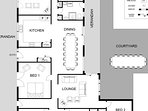 Hunter Valley Accommodation - Rosedale Estate - Lovedale - Floor Plan