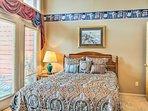 Enjoy peaceful slumbers on the queen bed in the master bedroom.