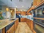 Modern appliances and granite countertops make cooking a breeze!