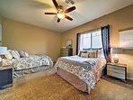 Kids will enjoy the second bedroom featuring 2 queen beds.