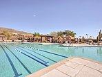 Swim laps at the community pool.