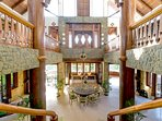 7 meter high ceiling with outstanding craftsman ship wood work