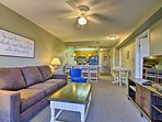 The well-appointed interior features 2 bedrooms and 2 bathrooms!