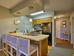 Entertain guests while they sit at the breakfast bar!