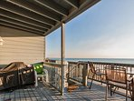 Large Deck with propane grill