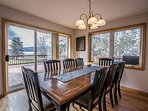 Dining room with access to deck and BBQ