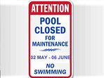 Pool area won't be accessible from 02 May to 06 June 2018 to allow refurbishment works