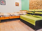 Comfortable Double Bed and Sofa Bed