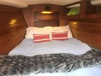 Spacious and beautiful forward cabin or V-berth with private connect to the forward head.