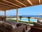 Sitting area in the veranda offering panoramic view