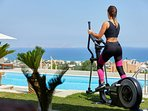 The villa has some gym equipment such as elliptical cross trainer