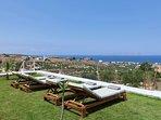 Sunbathing area with panoramic sea view
